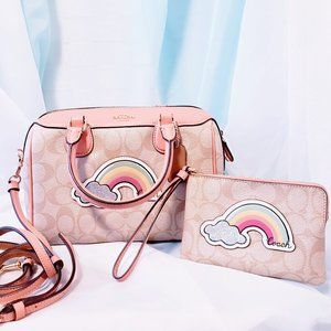Coach Bags - 🆕Coach Mini Bennett Rainbow Crossbody Satchel💋